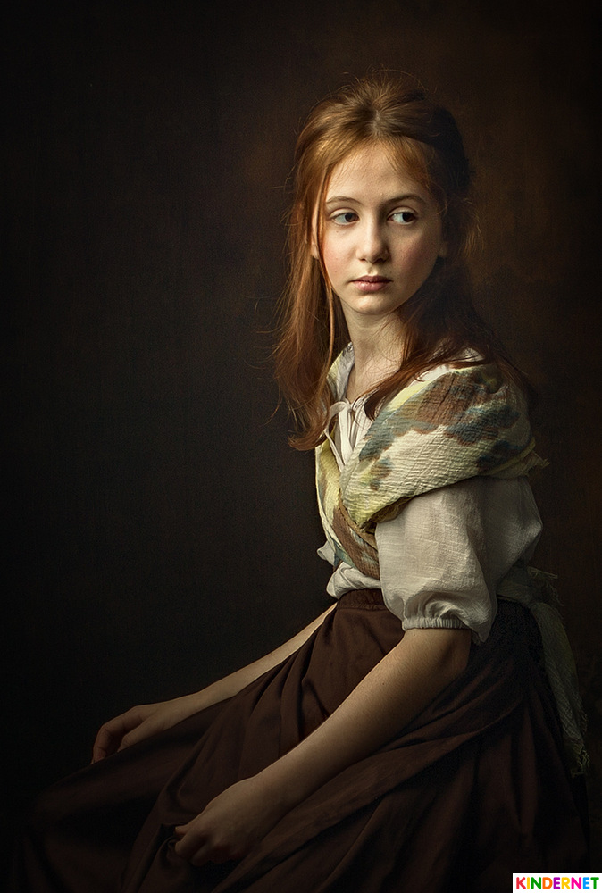 Portrait of red haired girl